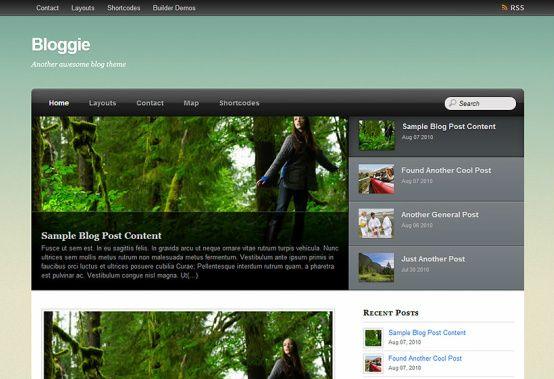 Bloggie WordPress Theme home demo - Themify