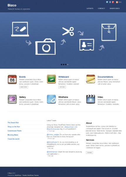 Bizco Review Themify - Business WordPress Theme