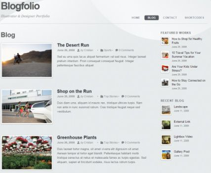 Blog Blogfolio theme