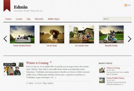 Edmin WordPress Blogging Theme : Themify