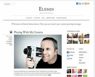 Elemin Blog WordPress Theme : Themify Review