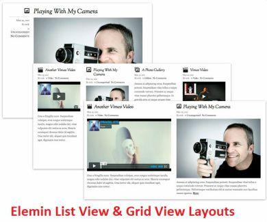 Elemin List View & Grid View Layouts