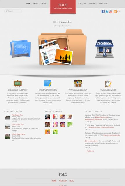 Folo demo - Themify Business theme