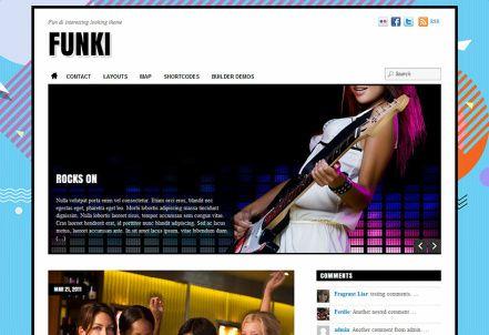 Funki – Responsive Blog WordPress Theme : Themify