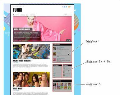 Sidebar Layouts Funki WordPress Theme
