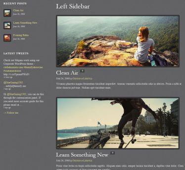 Sidebar Layouts Photobox gallery theme