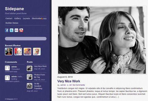 Sidepane Blog WordPress Theme Review : Themify