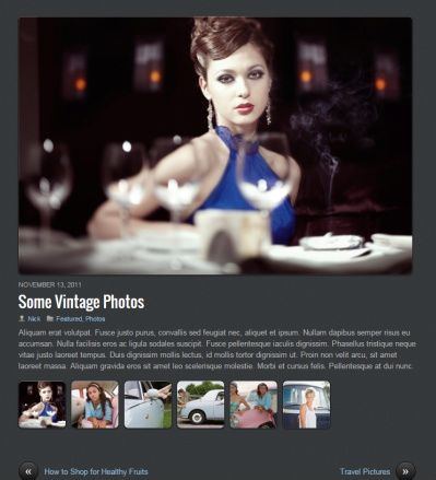 Gallery Post Options PhotoTouch