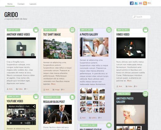 Grido WordPress Theme Demo : Themify Review