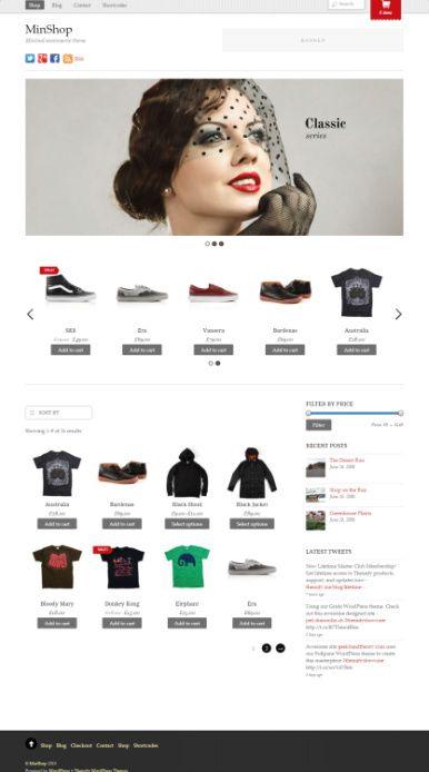 Minshop Demo – Themify eCommerce WordPress Theme