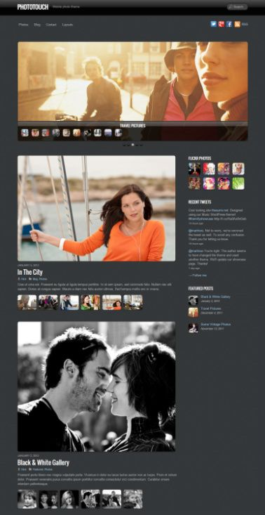 PhotoTouch Demo : Themify Gallery WordPress Theme