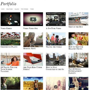 Portfolio Simfo responsive theme