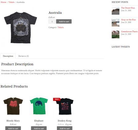 Product Page Minshop eCommerce Theme