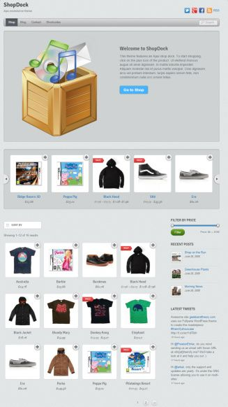 ShopDock Demo homepage Themify Review