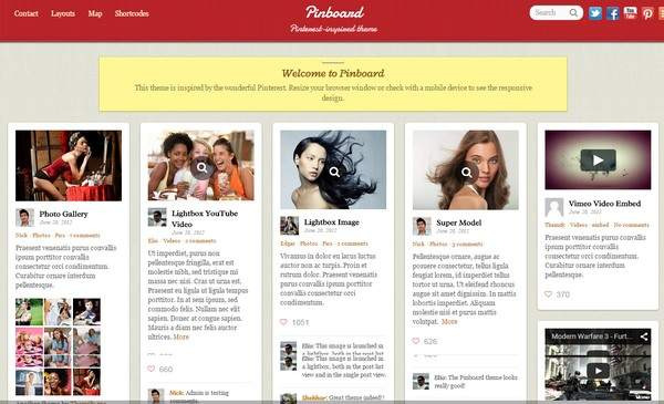 Pinboard Review - Themify Blogging Theme