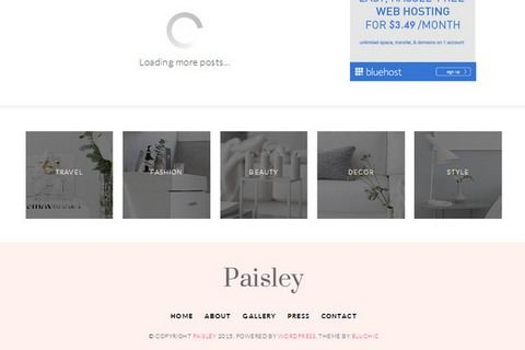 Footer 5 featured blocks - Paisley Theme
