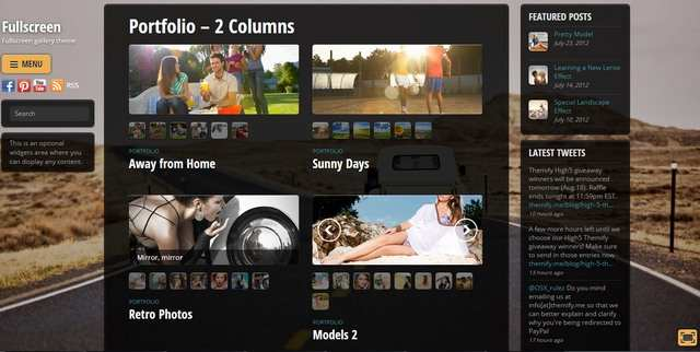 Fullscreen Portfolio - 2 Columns Layout