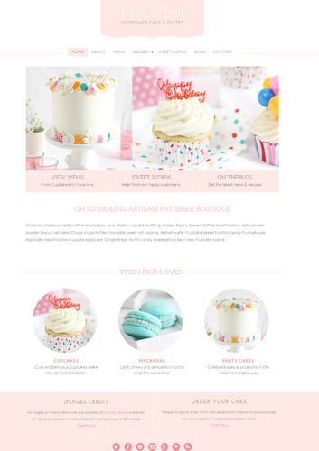 Naomi Review BluChic - Feminine Business Theme for Cupcake Pastry and Dessert