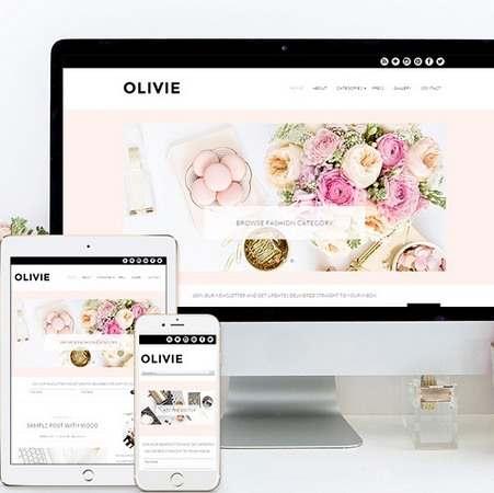 Olivie Demo Responsive Blog WordPress Theme - Bluchic