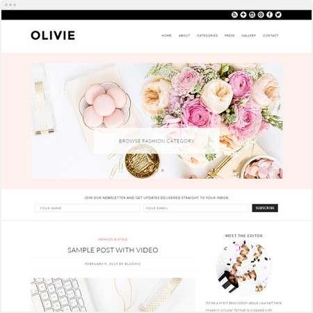 Olivie Demo : Bluchic Feminine WordPress Theme