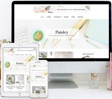 Paisley Responsive Chic blogging Theme Bluchic