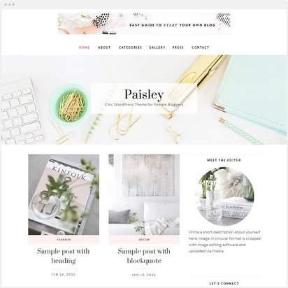 Paisley Demo : Feminine WordPress Theme – Bluchic