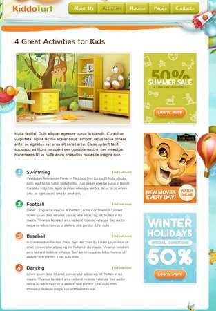 Activities Page - Kiddo Turf ThemeFuse Premium Kids Theme