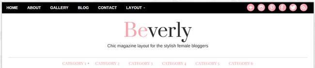 Beverly Header Menu Widgets