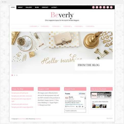 Beverly Demo – BluChic Magazine WordPress Theme