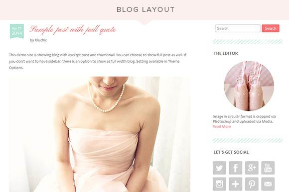 Blog Layouts - Chamomile for wedding event services