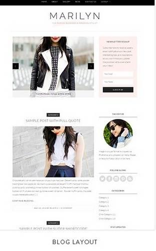 Blog Marilyn Theme BluChic Fashion and Style Blogs