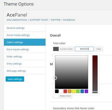 BluChic Theme Options Panel - Beverly