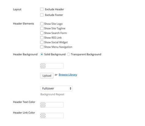 Header & Footer Visibility Options - Themify Split Theme
