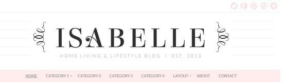 Header Menu - Logo - BluChic Isabelle Feminine Theme