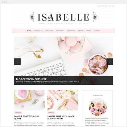 Isabelle WordPress Theme Demo : Bluchic