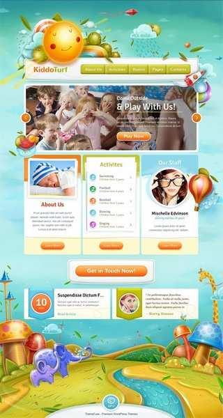 KiddoTurf WordPress Theme Demo - ThemeFuse Kids Business WordPress Theme