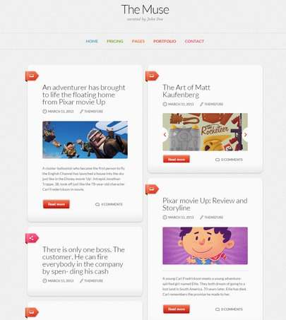 The Muse Blog WordPress Theme : ThemeFuse Demo