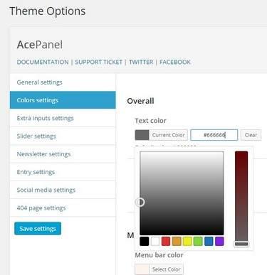 AcePanel - Theme Options Panel BluChic