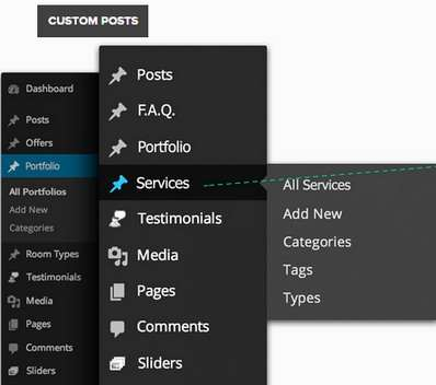 Back-End Options Panel - Conexus business template