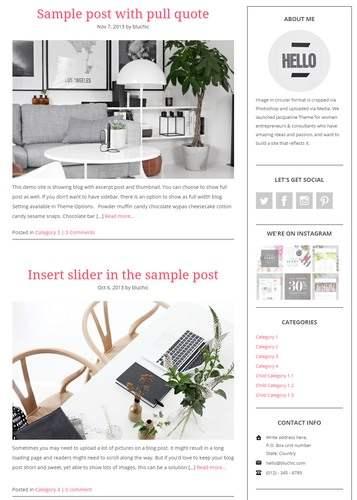 Blog - Jacqueline Chic Theme