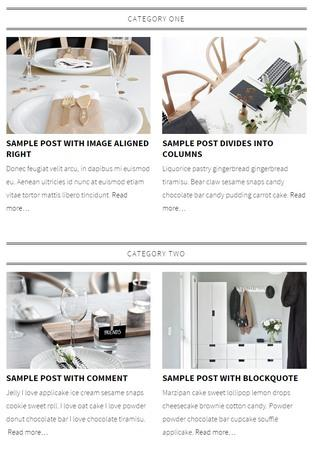 Category Grid Layout - Lynette Theme for Chic Bloggers