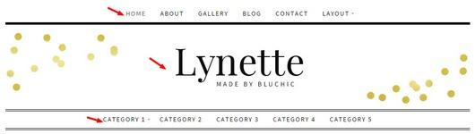 Header Menus Logo Lynette BluChic