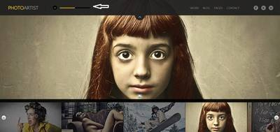 Homepage Slider in Fullwidth mode - PhotoArtist ThemeFuse