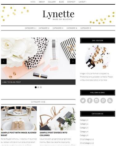 Lynette : Bluchic Blog WordPress Theme