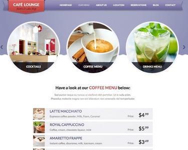 Menu Pages - Coffee Lounge ThemeFuse