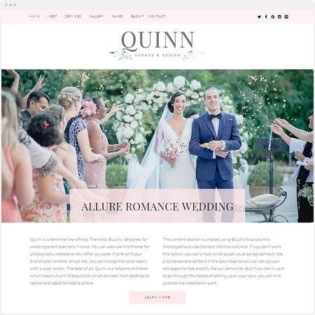 Quinn WordPress Theme – BluChic Demo