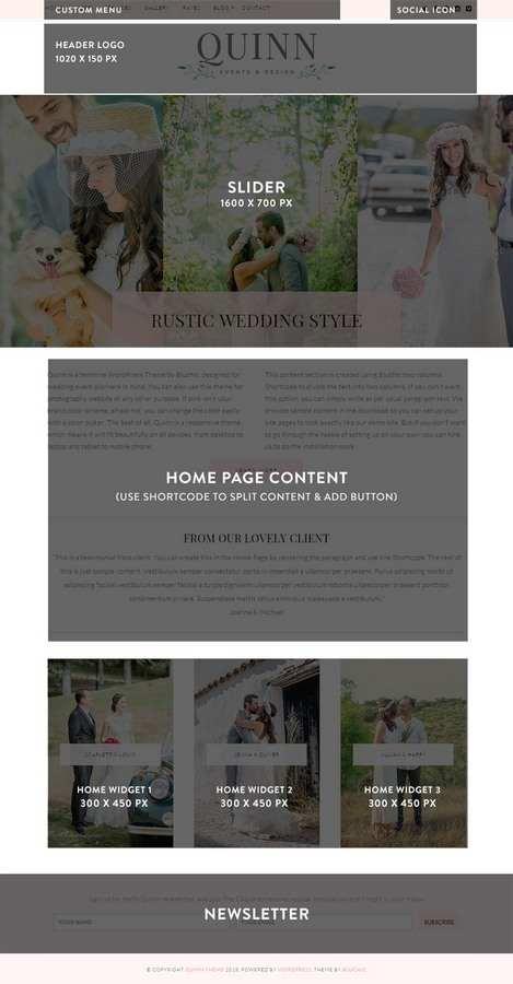 Quinn WordPress Theme home demo - BluChic