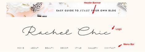 Header Logo Banner Menu - Rachel Theme