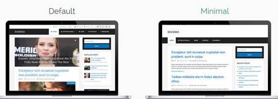 Homepage Layouts - Schema Default Minimal