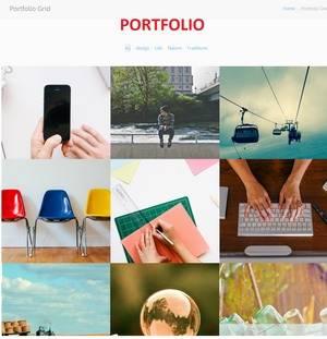 Portfolio Gallery Grid - Zero WordPress Theme